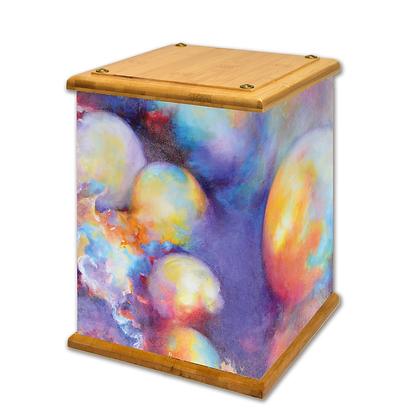 Happy Bubbles Art Canvas Urn