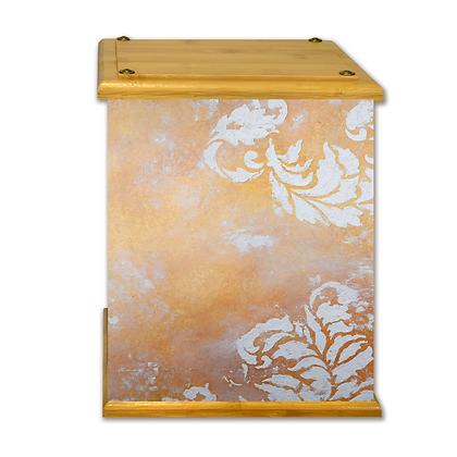 Honey Damask Art Canvas Urn