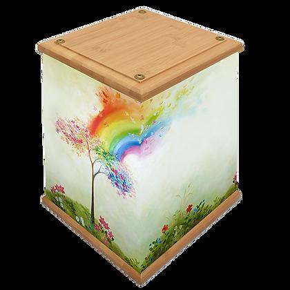 Rainbow Tree Art Canvas Urn