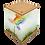 Thumbnail: Rainbow Tree Art Canvas Urn