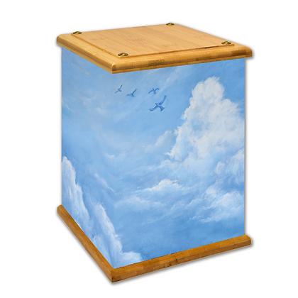 Flying Soul Art Canvas Urn