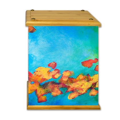 Bright Flowers Art Canvas Urn