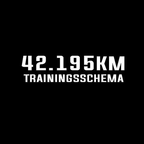 Trainingsschema 42.195km