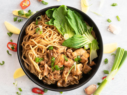 Sesame Noodles With Ginger Chicken