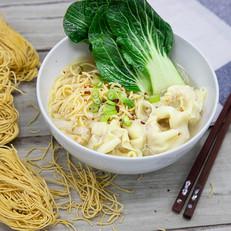 Chicken Dumplings With Noodles & Pak Choi