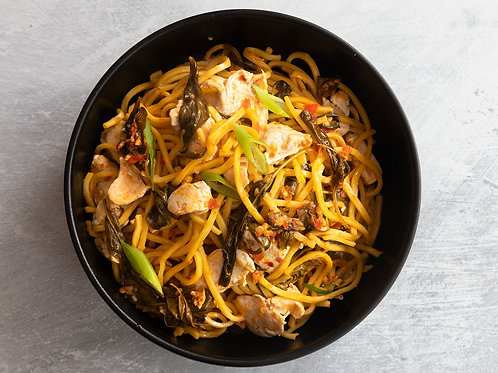 Spicy Thai Chicken Noodles With Holy Basil