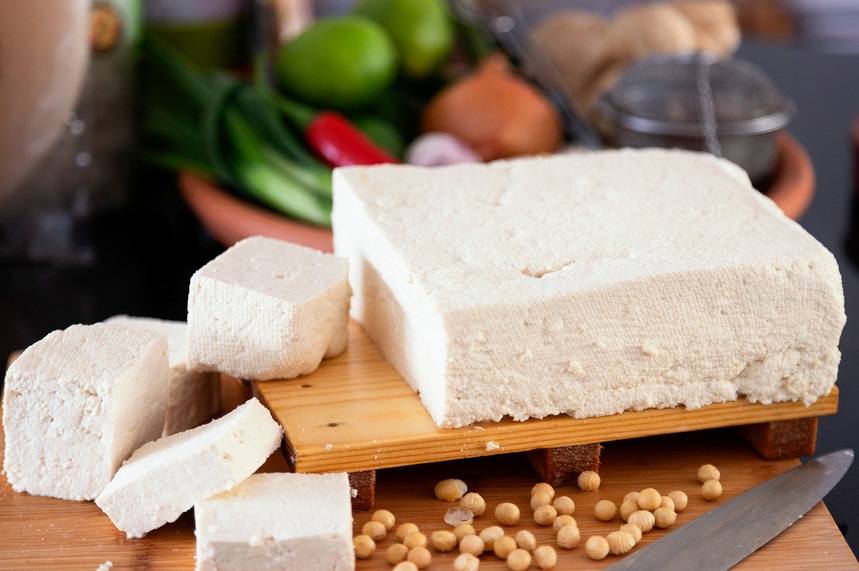 Our wonderful fresh tofu ! Learn how to make it at home and some great recipes on our Tofu Making Class.