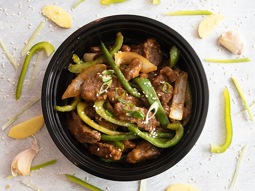 Stir Fried Mongolian Beef with Ginger & Soy Sauce