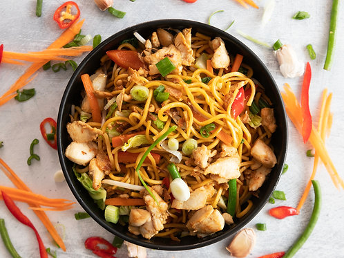 Indonesian Chicken Noodles (Mie Goreng Ayam)