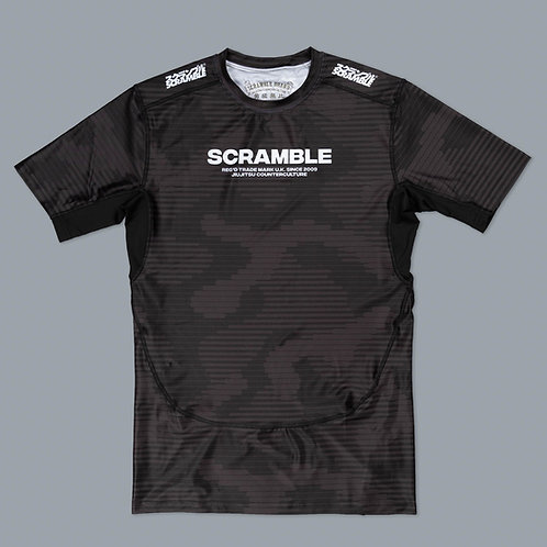 SCRAMBLE TACTIC RASHGAURD - BLACK