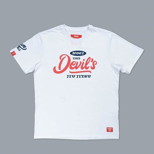 SCRAMBLE NO-GI DEVILS TEE -WHITE