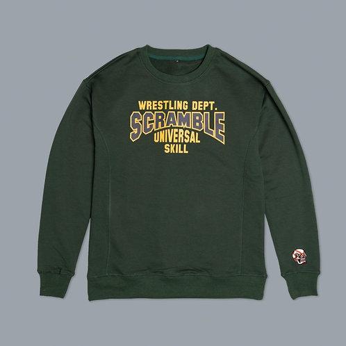 Scramble Collegiate Wrestling Sweatshirt - Sporting Green