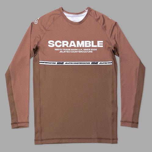 SCRAMBLE RANKED RASHGUARD V4 - BROWN