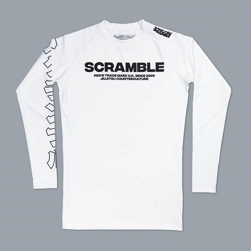 SCRAMBLE BASE RASHGUARD -WHITE