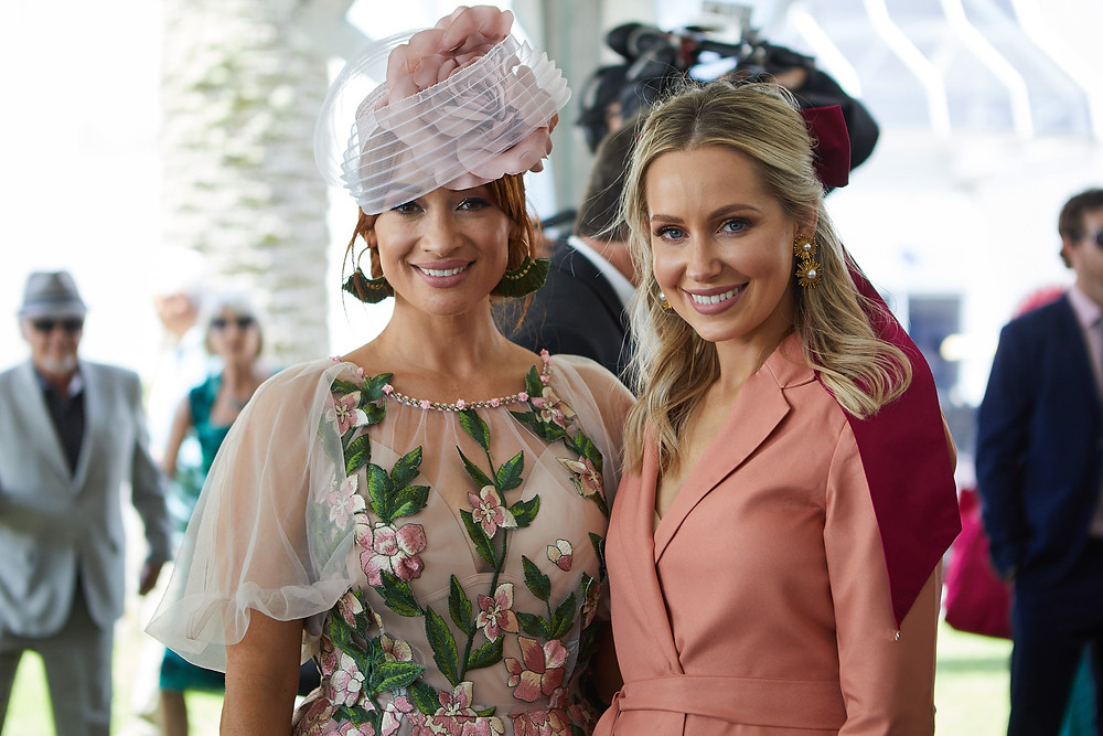 Sarah Stuart here at Ellerslie with Hannah Marinkovich, a fellow Fashions in the Field judge
