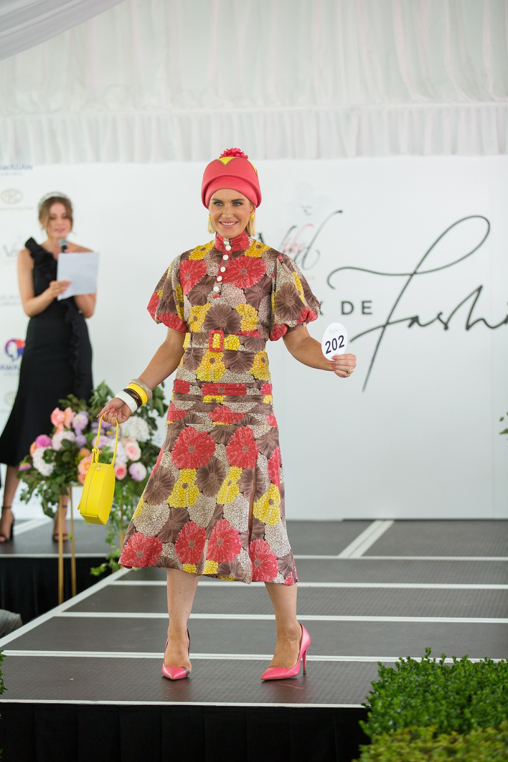 Katie O'Neill winning The Ned Prix de Fashion at Ellerslie in February 2020