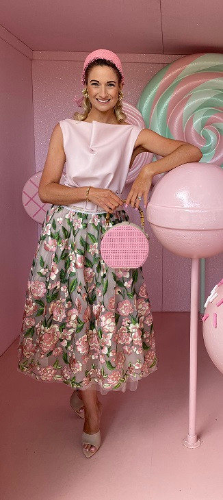 One of Aleisha's 2019 Melbourne Cup Carnival outfits