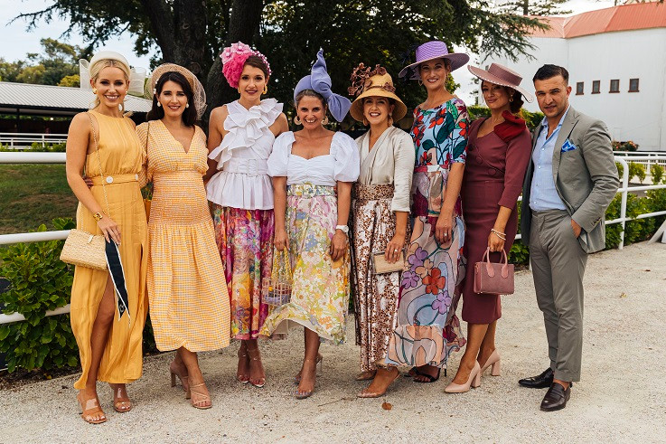 Hawaiian Airlines Fashions in the Field womenswear placegetters at Ellerslie 2019 | Image copyright Auckland Racing Club