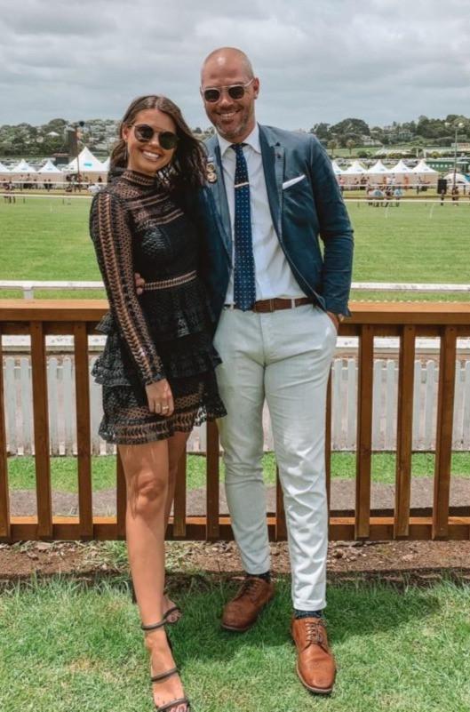 All Whites international Jarrod Smith at Ellerslie with fiance, Rebekah Palmer | Photo: Te Akau Racing