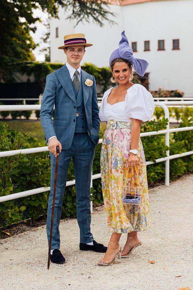 Ellerslie's Hawaiian Airlines Menswear winner, Ryan Dodson, with the Womenswear winner, Ciara Britton