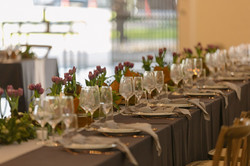 Head table set-up for a wedding in Tote on Ascot