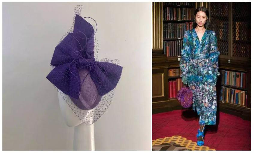 Headwear: Claire Hahn, Dress Peter Pilotto