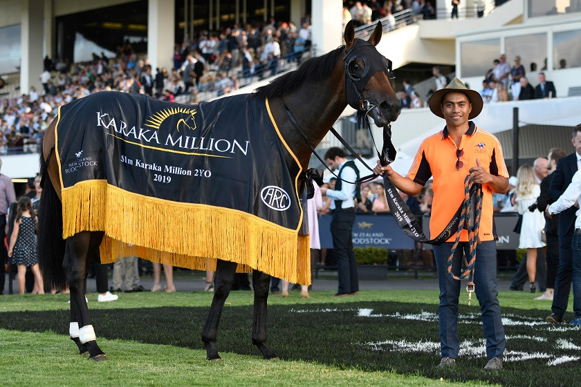 Probabeel after her win of the $1m Karaka Million 2YO in 2019