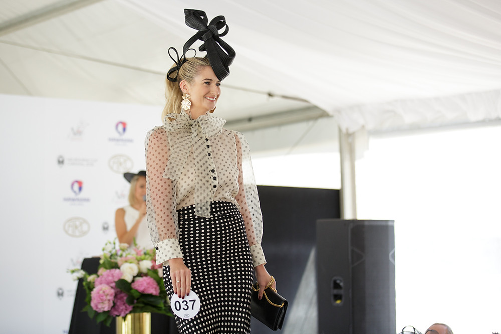 Aleisha taking to the runway in The Ned Prix de Fashion 2019 which she won