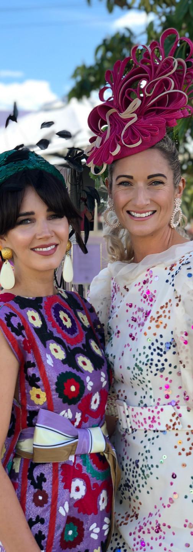 Carena (left) with 2019 The Ned Prix de Fashion winner & 2x Flemington Top 10 entrant, Aleisha Mitchell