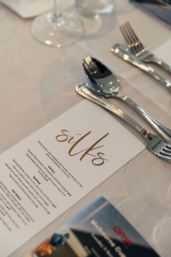 Sample menu of what you could expect in a function in Silks