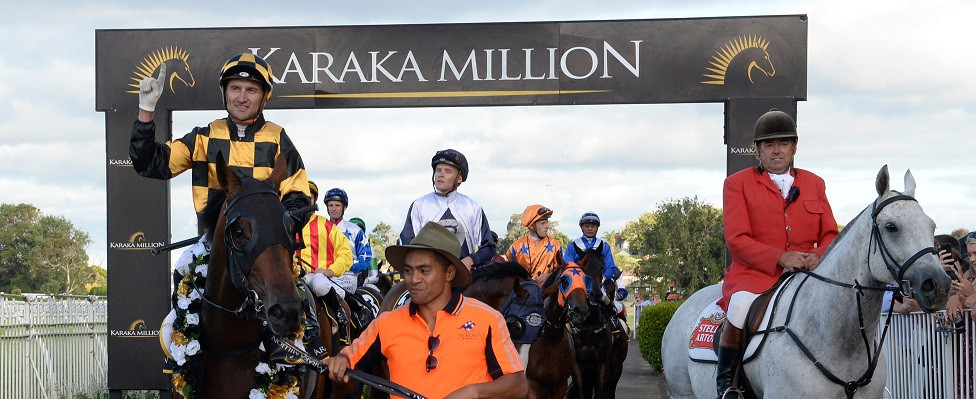 Probabeel, returning to scale with jockey Opie Bosson and strapper Teina Walkers after their win in the 2019 Karaka Million 2YO