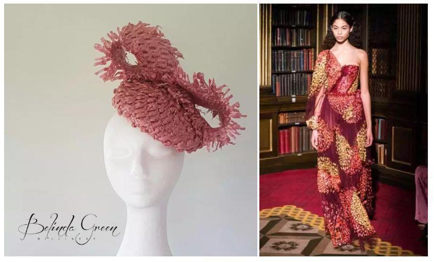 Headwear: Belinda Green Millinery, Dress Peter Pilotto