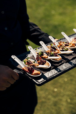 Food on its way to a marquee event