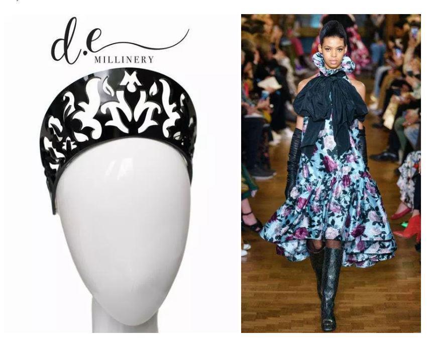 Headwear: D.E Millinery, Dress: Erderm