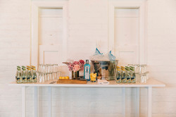 Did someone say Bombay Sapphire bar? This set-up worked in particularly well at a cocktail function