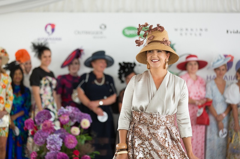 Soraya Gurney on the runway in last year's competition where not only did she place second overall, but took out the Millinery Award