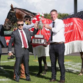 Rocket Spade wins thrilling Vodafone New Zealand Derby