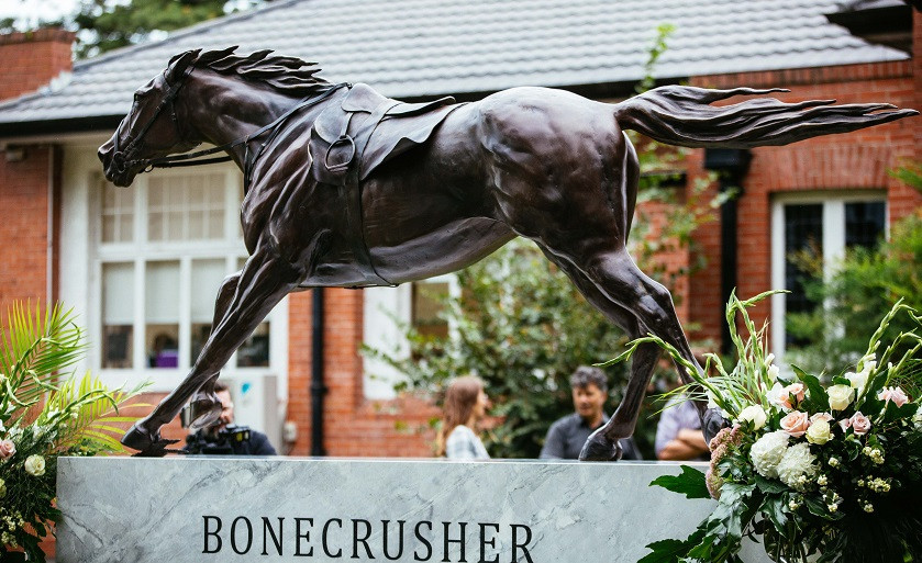 Bonecrusher's memorial is a wonderful tribute to the champion racehorse - make sure you come see it when you're here over Auckland Cup Week®