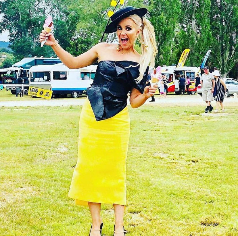 Katie O'Neill judging fashion at Reefton