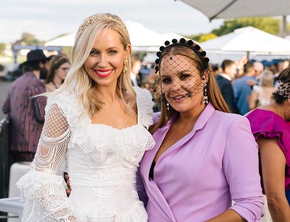 Hannah Marinkovich (L) with Lulu Wilcox (R)