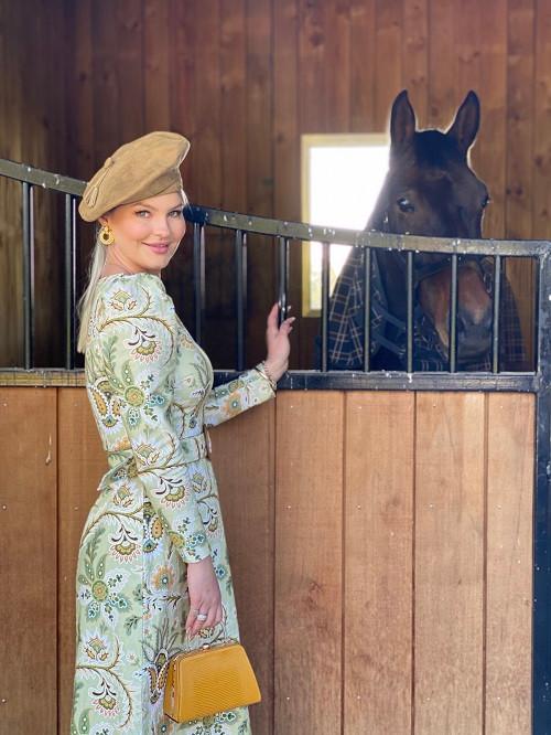 Racewear girl with horse