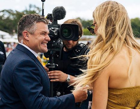 Media at Auckland's Ellerslie Racecourse