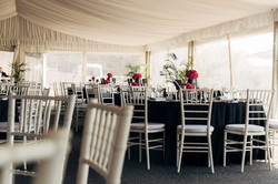 Champagne Lawn Marquee set-up for a special event