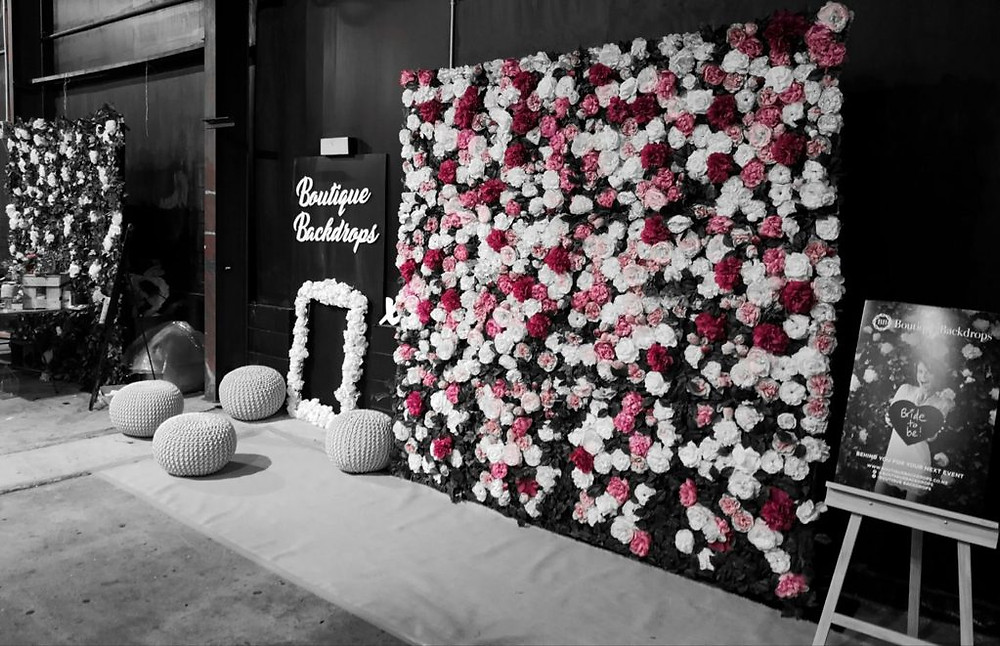 Our friends at Boutique Backdrops have a range of gorgeous walls for your big day