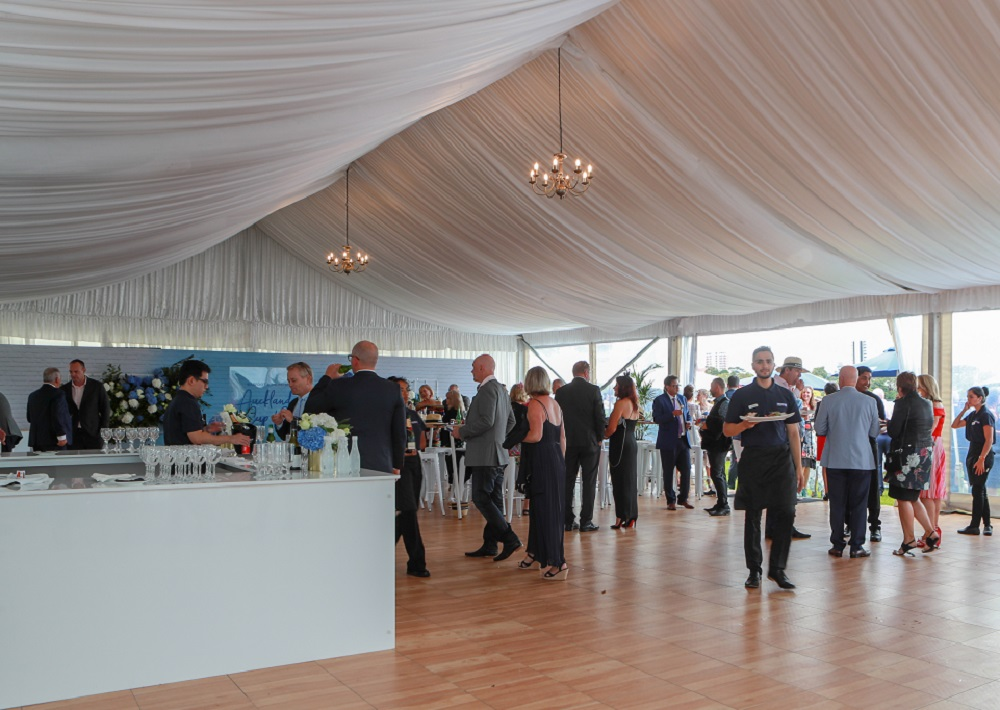 A classic fit-out in our Champagne Lawn Marquee