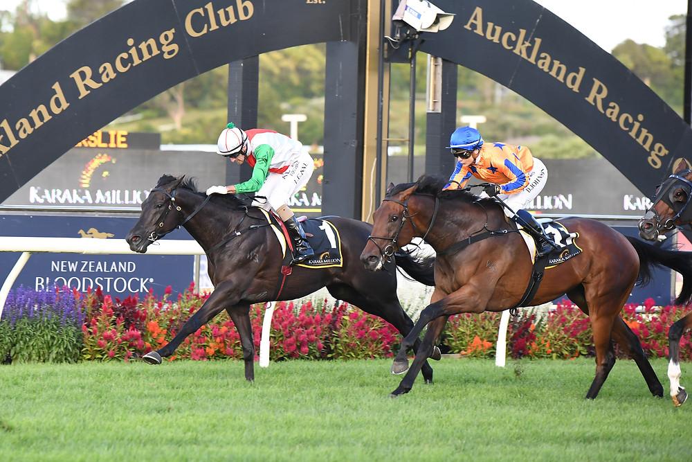 Horse 'Aegon' winning Karaka Million 2021