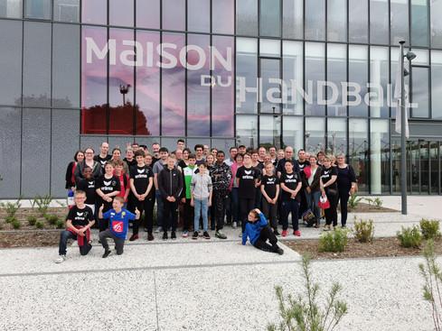 La JS Boulleret Handball à la Maison du Handball