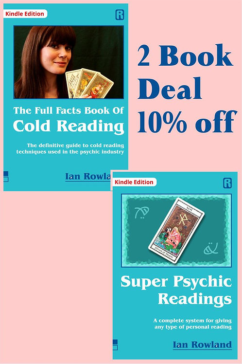 2 Book Discount Deal: FF Bk Cold Reading + SPR. 10% OFF. KINDLE