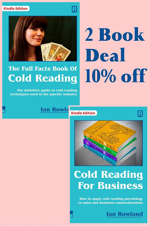 2 Book Discount Deal: FF Bk Cold Reading + CRFB. 10% OFF. KINDLE