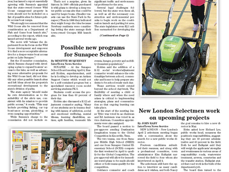 The April 10, 2018 edition of the InterTown Record is available online now!